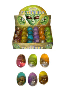 Mini Alien Egg Putty Gold/Silver 6 Assorted Colours 5.8 x 4cm N14018 (Parcel Rate)