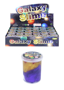 Colourful Shimmer Galaxy Slime Putty Tub Kids Sensory LARGE 6 x 4.8cm N14308 (Parcel Rate)