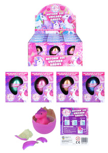 Unicorn Egg Hatchin' Grow Your Own Unicorn Babies Assorted Colours N51465 (Parcel Rate)
