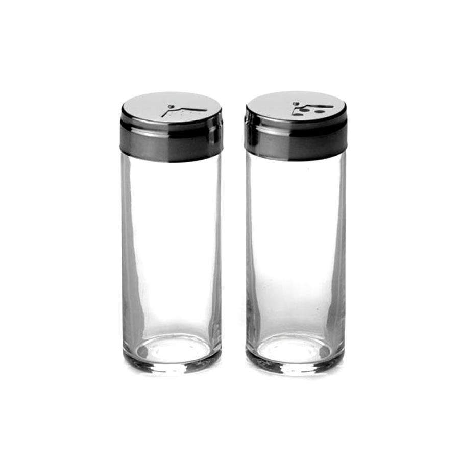 2 Pack PB Basic Kitchen Glass Spice Jars 240ml GB 43890 (Parcel Rate)