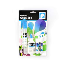 Load image into Gallery viewer, Pack of 4 Glue Set Pen White Glue & Glue Sticks Childrens Set  P2300 (Parcel Rate)