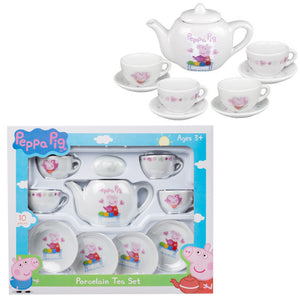 Peppa Pig Porcelain Tea Set Childrens Kids Role Play 24621 (Parcel Rate)