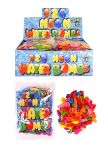 120 Pack Outdoor Fun Neon Water Bombs R51174 (Large Letter Rate)