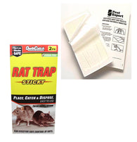 Strong & Sticky Rat Outdoor Indoor Glue Board Mat Traps 2 Glue Mats 27 x 13cm 5053