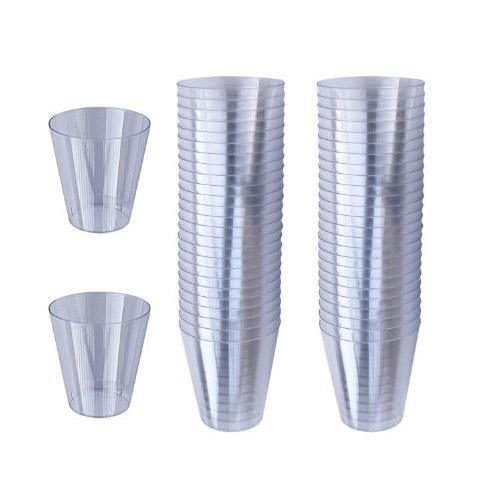 36 Pack Plastic Shot Glasses For Parties BBQ Special Occasions  CD595 (Parcel Rate)