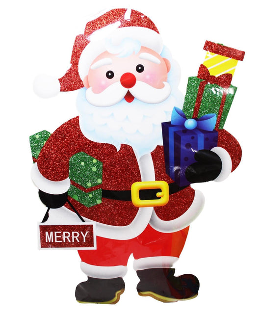 Santa Clause Christmas Welcome Cardboard Stand Merry 58cm 5461