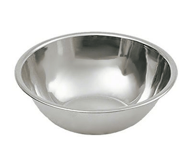 Deep Mixing Bowl Cooking Baking Stainless Steel Bowl Flat Base 22cm ST9993 (Parcel Rate)