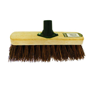 Brown Bristle Outdoor Heavy Duty Brush Head 29cm  F0/BKT (Parcel Rate)