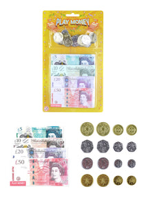 Kids Fake Play Money Notes & Pound Coins Educational Fun Budgeting T09378 (Parcel Rate)