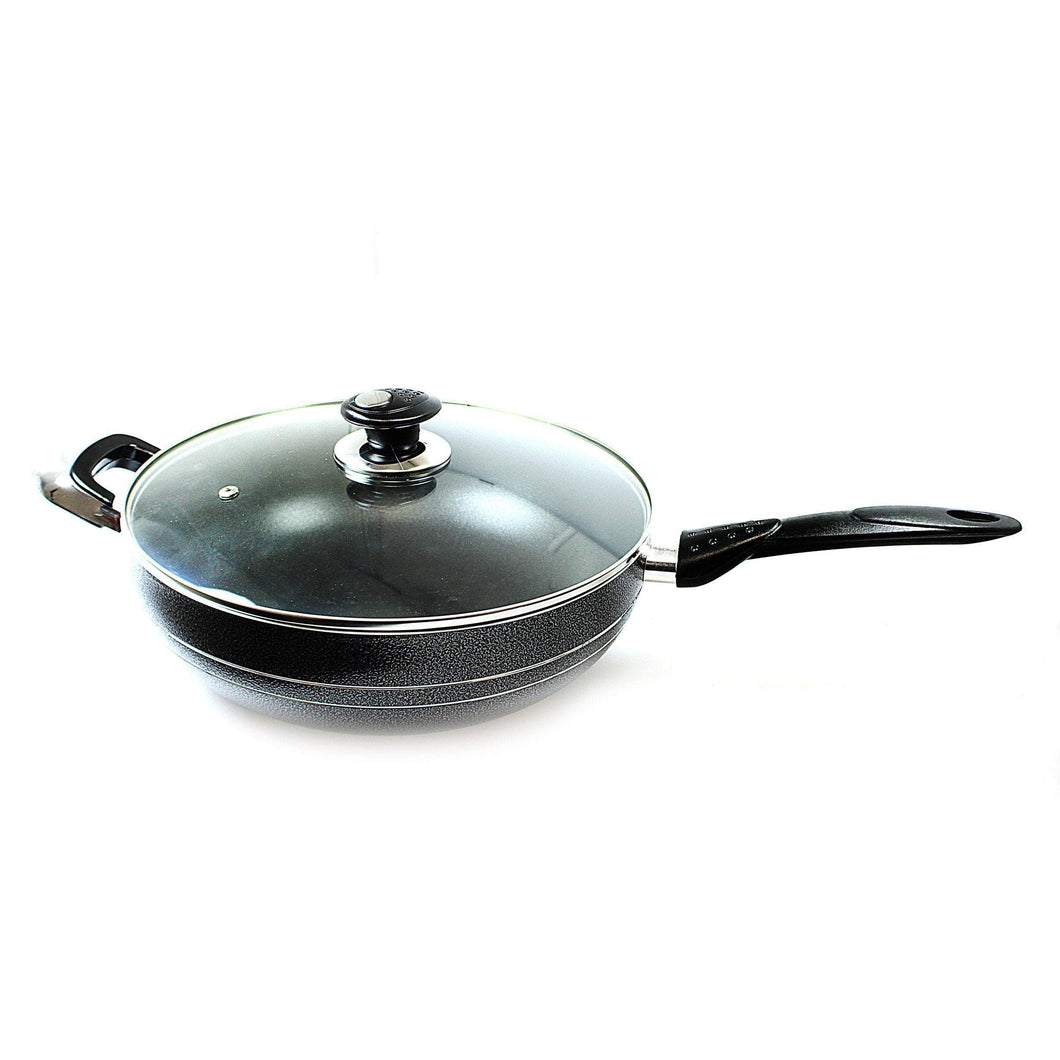 UNA Non Stick Wok Long Handle 30cm Home Kitchen 0211 (Parcel Rate)