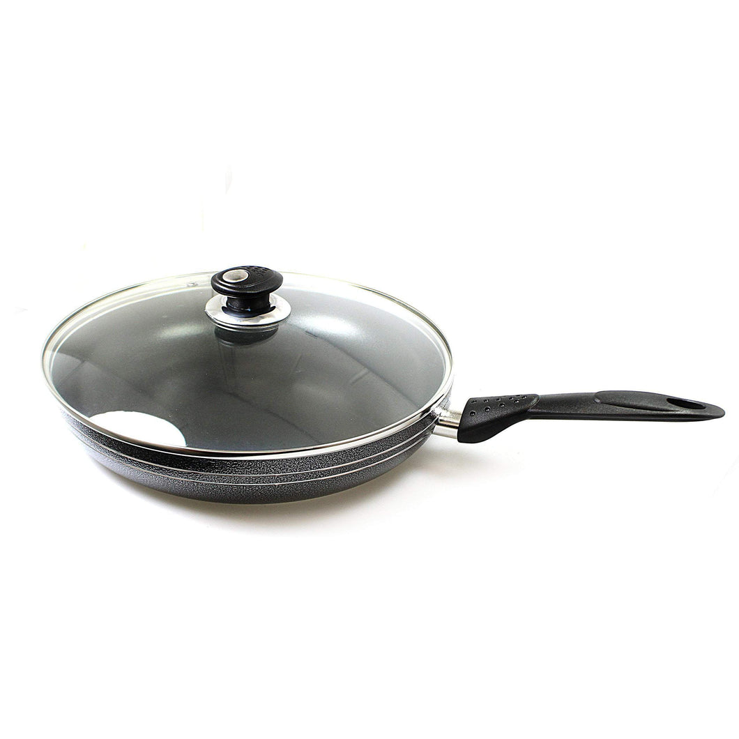 Una Non Stick Frying Pan With Lid 24cm Ind Base 2764 (Parcel Rate)
