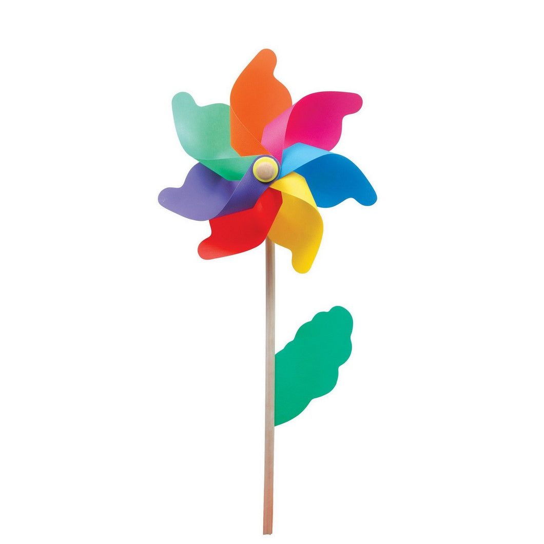 Wooden Garden Decorative Rainbow Windmill Flower Bed Ornament 40cm  5087 (Parcel Rate)