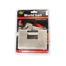 Load image into Gallery viewer, Security DIY World Ball Lock With Keys Included 94mm 0253 (Parcel Rate)
