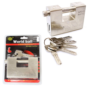Security DIY World Ball Lock With Keys Included 94mm 0253 (Parcel Rate)