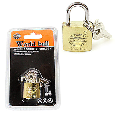 New Security World Ball Unique Padlock 20mm   0242 (Parcel Rate)