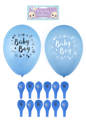 'Baby Boy' Party Birth Celebration Balloons Blue 23cm X38745 (Large Letter Rate)
