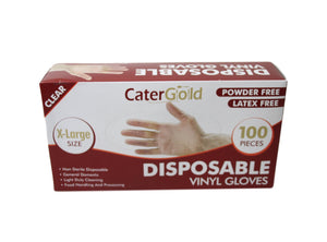 100 Vinyl Examination Gloves Clear Extra Large 27558 (Parcel Rate)