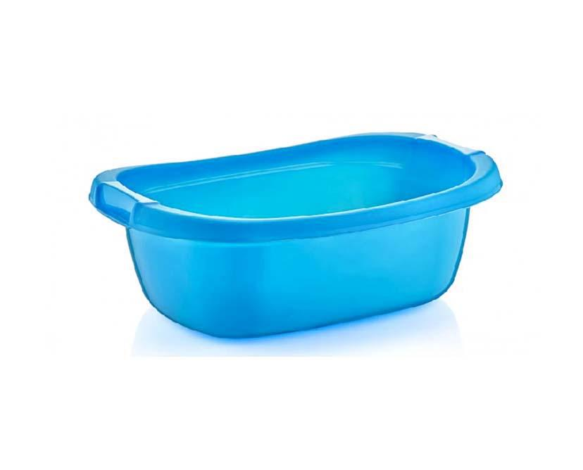 25 Litre Plastic Oval Basin Home Kitchen Small Bath Storage Water Basin D05602 (Parcel Rate)