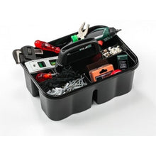 Load image into Gallery viewer, 3 Division Organiser Storage Box With Handle Builders Tools Cleaners Storage Organiser x 1 D07404 (Parcel Rate)