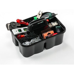 3 Division Organiser Storage Box With Handle Builders Tools Cleaners Storage Organiser x 1 D07404 (Parcel Rate)