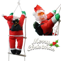 90 CM  XMAS CUTE DECORATION CLIMBING SANTA WITH ROPE LADDER HOT 52976