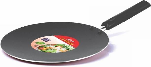 Cookware Baking TAWA Dish Disk Pan Round With Handle  Black 00088 (Parcel Rate)