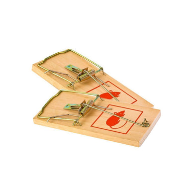 2 Pack Big Wooden Mouse Traps Easy Catch Pest Control Mouse Traps 7'' 2856 (Large Letter Rate)