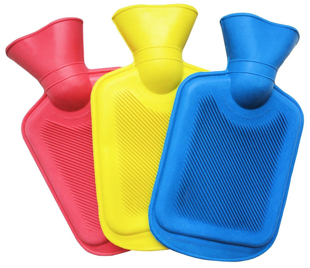 Pain Relief Hot Water Bottle Transparent In 3 Colours 2786 (Parcel Rate)