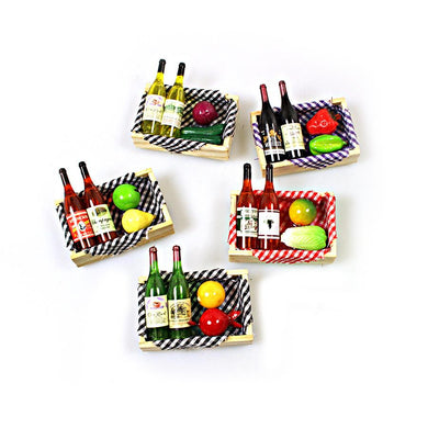 1 Piece Champagne Picnic Basket Style Magnet Design 2103 (Large Letter Rate)