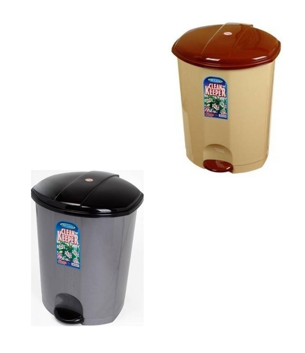 Home Kitchen Rubbish Pedal Bin Clean Keeper Mixed Colour Pedal Bin 11 Litre x 1 D01012/PB11  (Parcel Rate)