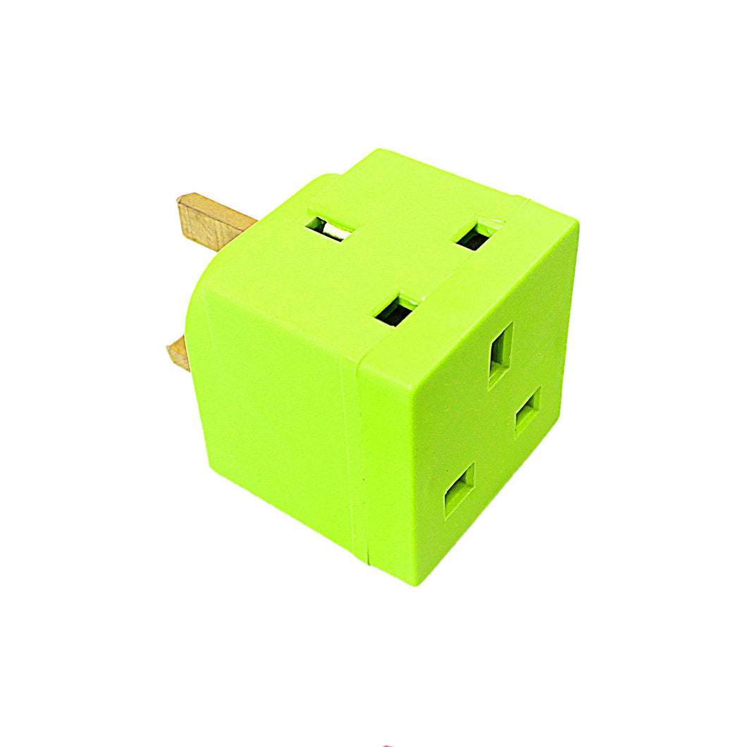 Status 2 Way Non Fused Adaptor Light Green In Colour CDU Diy Home 8097 (Parcel Rate)