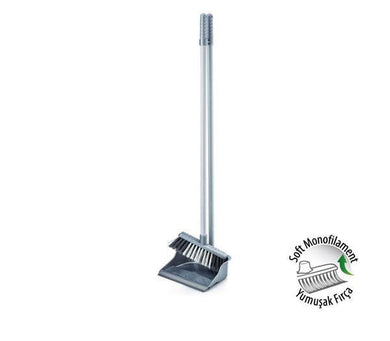 Economic Dustpan And Brush Household Use Kitchen Cleaning ( Assorted Colours )  ZP139 (Parcel Rate)