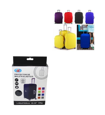 (L) Travel Suitcase Luggage Cover Protector Elastic Stretchy Cover Assorted Colours 65x47x29cm 6535 (Parcel Rate)