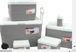 Ice Chest With Wheels 6 Piece Set Grey Outdoors 8083508GR  (Big Parcel)