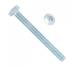 M10 x 80 Hex Bolts And Nuts Zinc Builders DIY Fixings Fittings Zinc Plated x 2 Diy 3370 (Large Letter Rate)