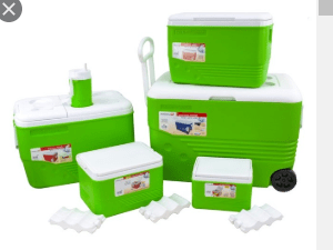 Ice Chest With Wheels 6 Piece Set Green Outdoors 80143508 (Big Parcel)