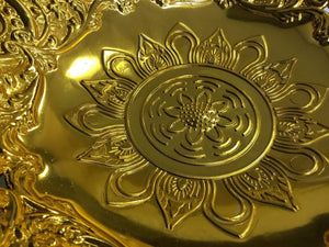 Designer Tray Jewelled ( Gold )   2752 (Parcel Rate)