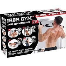 Iron Gym Total Upper Body Workout Perfect For Pull Ups Sit Ups Push Ups & Dips 2371 (Parcel Rate)