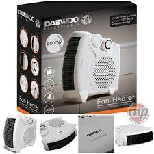 2000 Watt Daewoo Fan Heater 2KW Flat Or Upright Hea1139 (Parcel Rate)