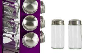 Spice Rack 16pc Amethyst Clear P90723 (Parcel Rate)