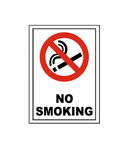 No Smoking Sign for Shops, House, School and Private Areas No Smoking 4904 (Large Letter Rate)