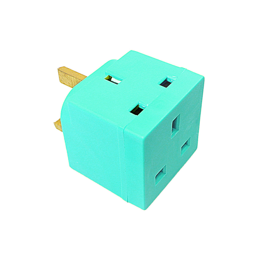 Status 2 Way Non Fused Adaptor Sage Green In Colour CDU Home Diy 8098 (Parcel Rate)