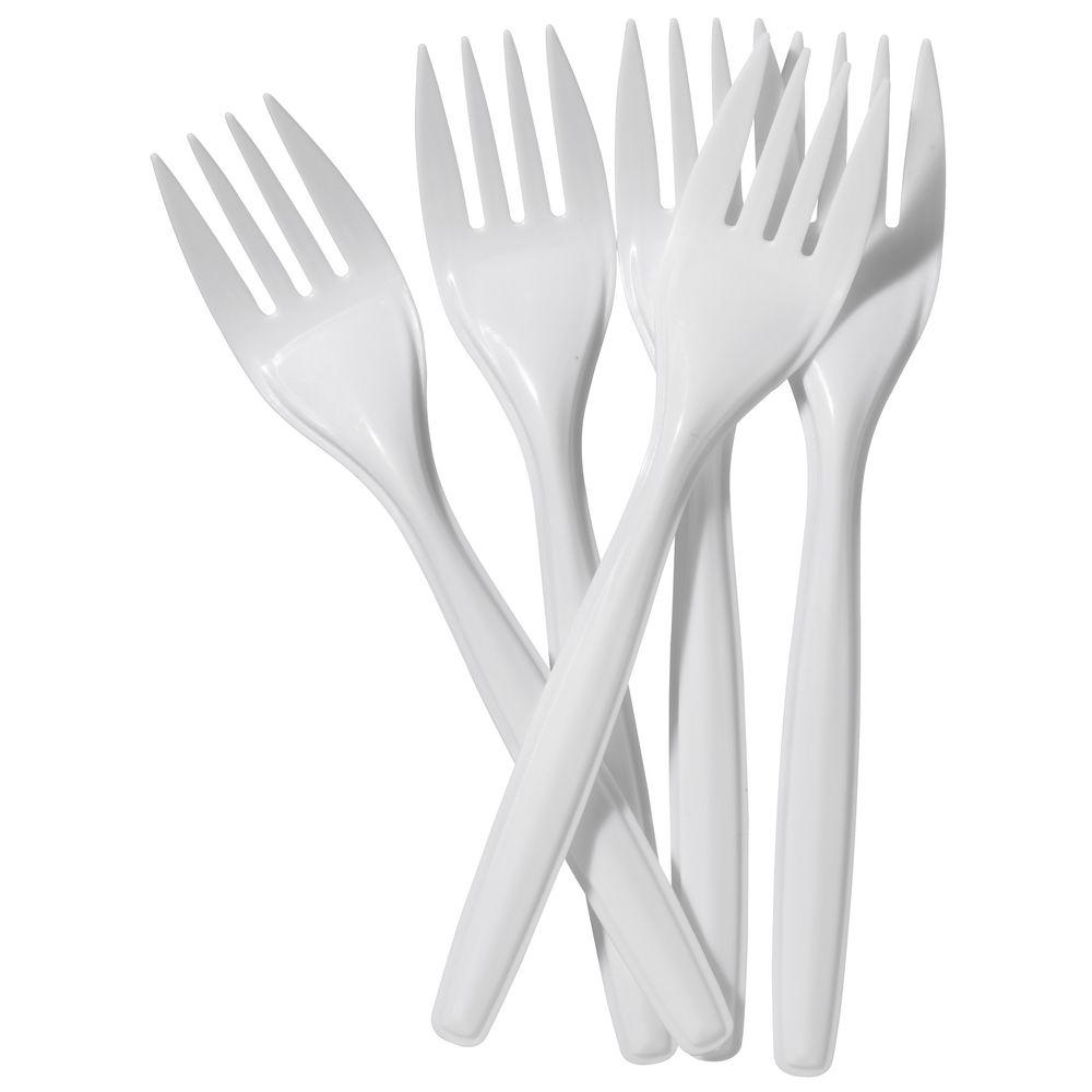 100 Pack Plastic Disposable Forks Home Party BBQ Use Plastic Forks MX-7004 (Parcel Rate)