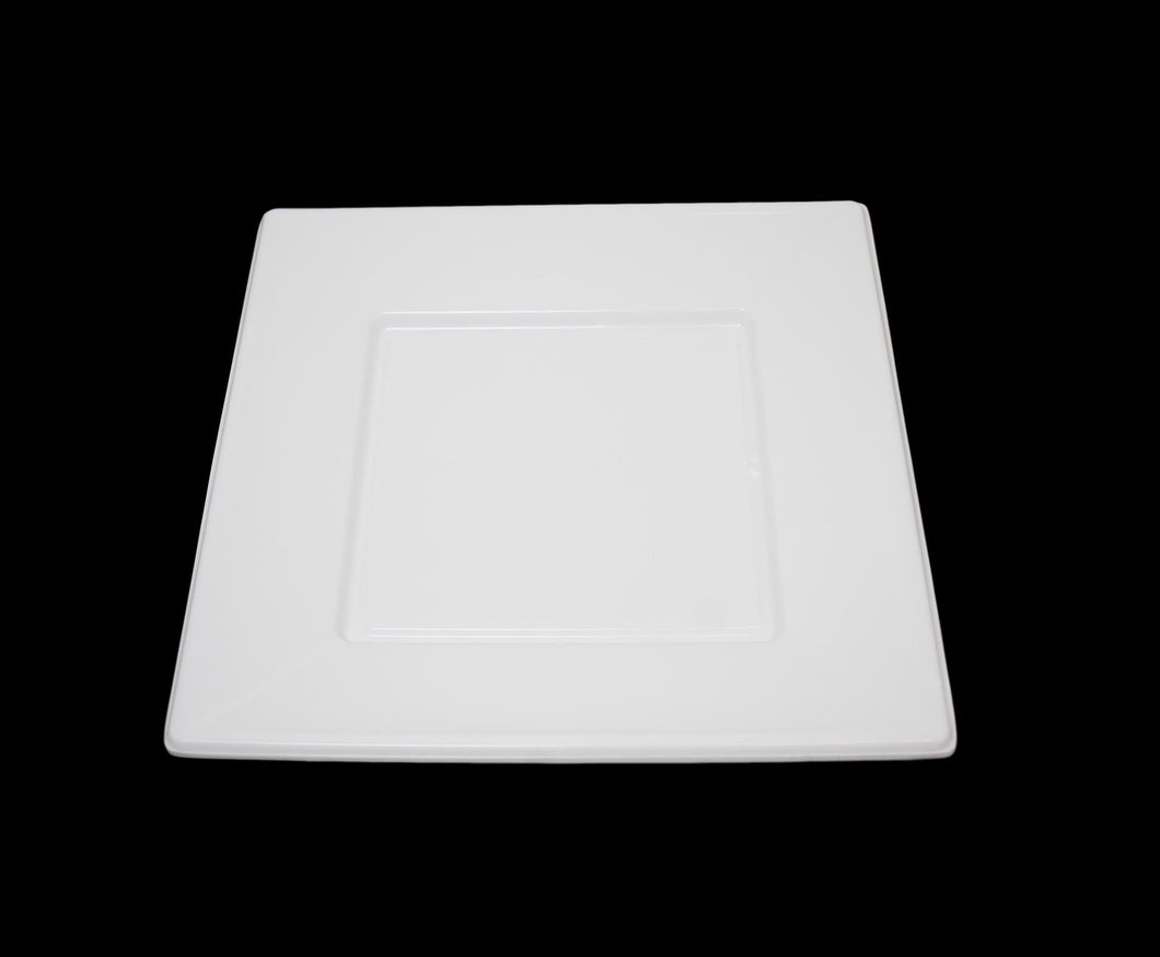 9'' Plastic Square Plate Party Plastic Disposable BBQ Party Square Plates 6 Packs MX-8043 (Large Letter Rate)