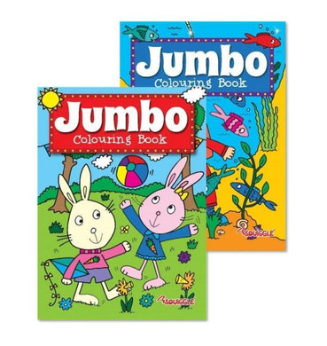 Jumbo Fun Home Activity Colouring Book Assorted Designs Fun Colouring Book P2153 (Large Letter Rate)