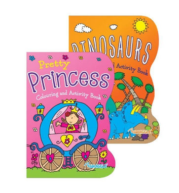 Princess Dinosaurs Home Colouring Activity Book 27cm x 19cm (Large Letter Rate)