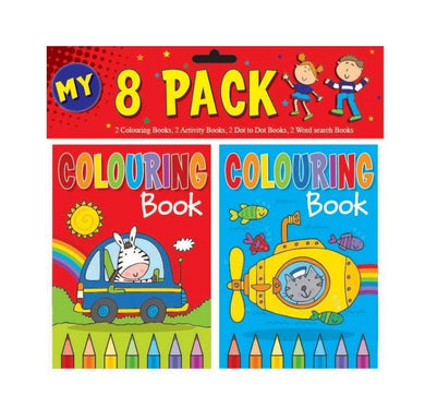 8 Pack Childrens Fun My Colouring Activities Girls/Boys Home Fun Books P2199 (Large Letter Rate)