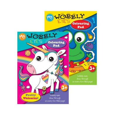 Home Activity Colouring Pads Wobbly Eyes Unicorn Aliens Colouring Pads P2585 (Large Letter Rate)