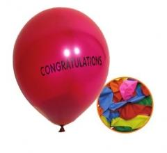 12 Pack High Quality 'Congratulations' Party Balloons Assorted Colours P2739 (Large Letter Rate)