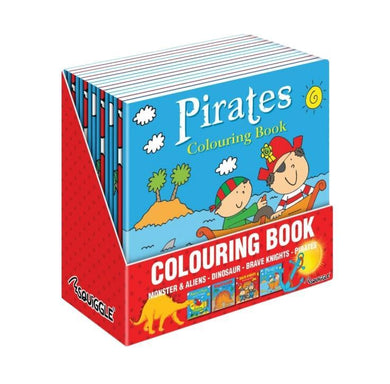 Boys Fun Home Colouring Activity Books Pirates Monsters Aliens Dinosaurs P2850 (Large Letter Rate)
